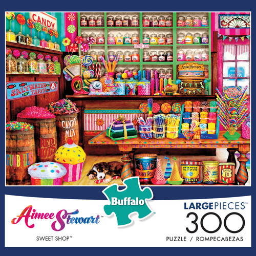 Aimee Stewart Sweet Shop 300 Large Piece Jigsaw Puzzle Box