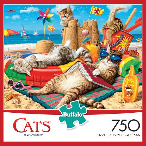 Cats Beachcombers 750 Piece Jigsaw Puzzle Box