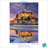 Earthpix Mont Saint Michel 500 Piece Jigsaw Puzzle Box