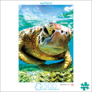 Earthpix Turtle Swimmer 500 Piece Jigsaw Puzzle Box