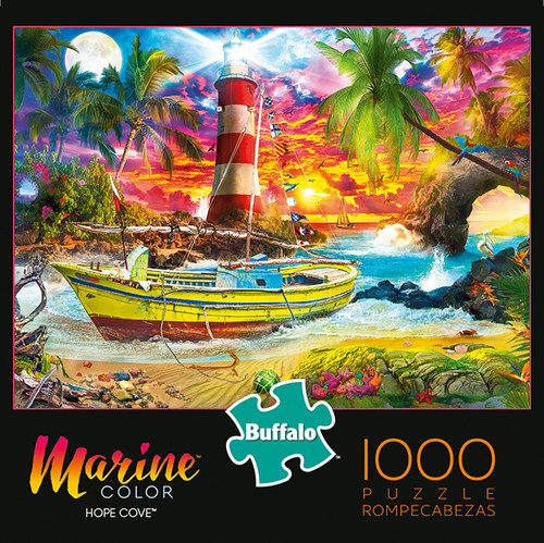 Marine Color Hope Cove 1000 Piece Jigsaw Puzzle Box