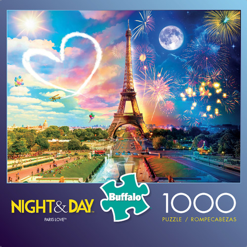 Night & Day Paris Love 1000 Piece Jigsaw Puzzle