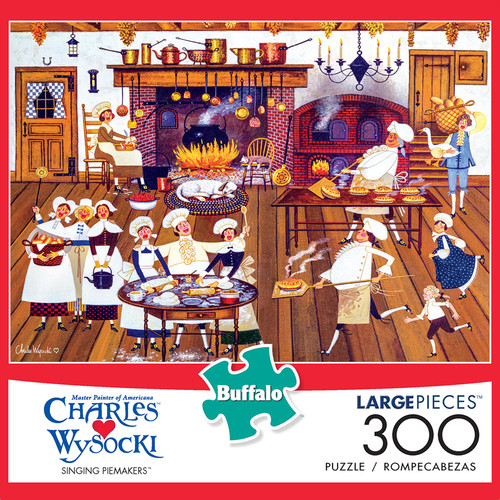 Charles Wysocki Singing Piemakers 300 Large Piece Jigsaw Puzzle Box