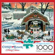 Charles Wysocki Twas' the Twilight Before Christmas 1000 Piece Jigsaw Puzzle Box