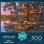Americana Collection Eugene's Hunting & Fishing 500 Piece Jigsaw Puzzle Box