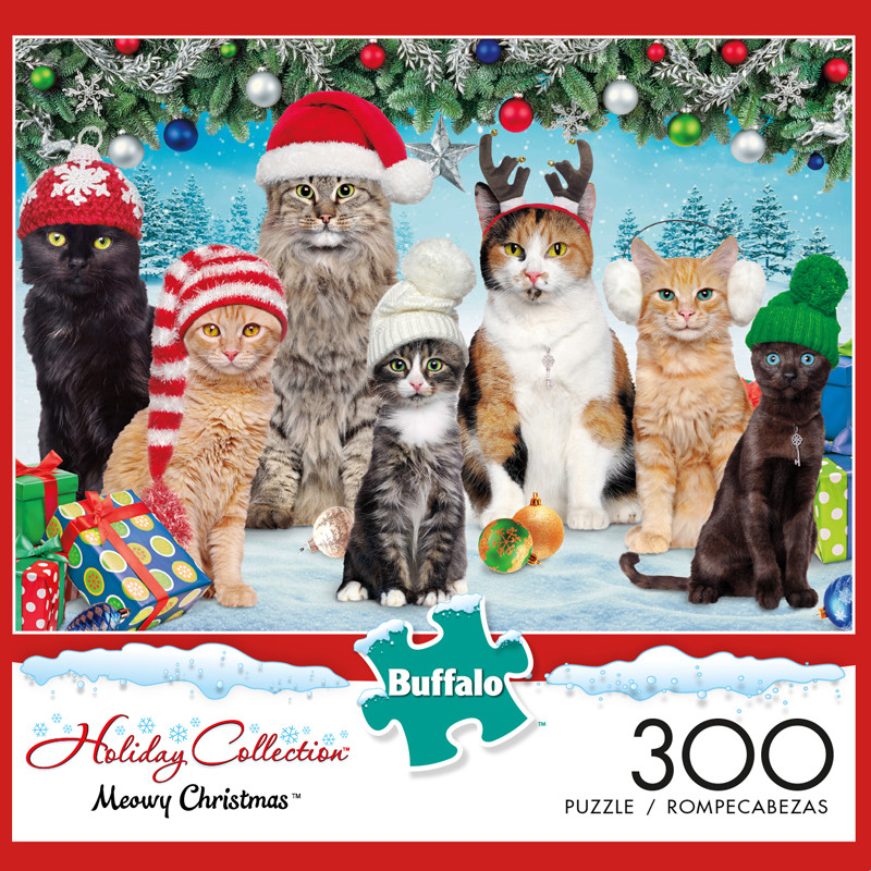 Image of: Update Adorable Animals Meowy Christmas 300 Large Piece Jigsaw Puzzle Box Hamleys Adorable Animals Meowy Christmas 300 Large Piece Jigsaw Puzzle