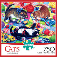Cats Knitting Kittens 750 Piece Jigsaw Puzzle Box