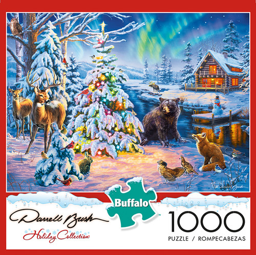 Darrell Bush Woodland Christmas 1000 Piece Jigsaw Puzzle Box