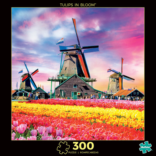 Photography Tulips in Bloom 300 Large Piece Jigsaw Puzzle Box