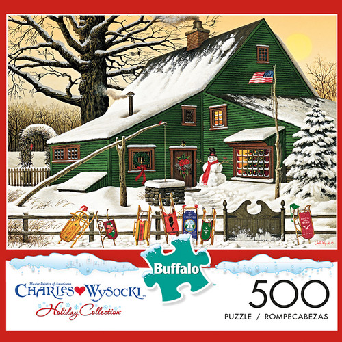Charles Wysocki Cocoa Break at the Copperfields 500 Piece Jigsaw Puzzle Box