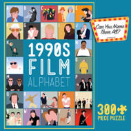 Retro 90s Movie Alphabet 300 Large Piece Jigsaw Puzzle Box