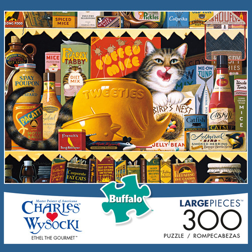Charles Wysocki Ethel the Gourmet 300 Large Piece Jigsaw Puzzle Box