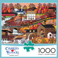 Charles Wysocki Waterfall Valley 1000 Piece Jigsaw Puzzle Box