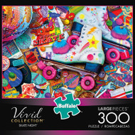 Aimee Stewart's Vivid Skate Night 300 Large Piece Jigsaw Puzzle Box