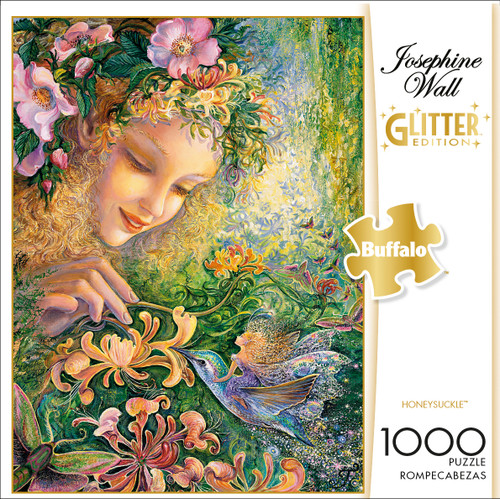 Josephine Wall Honeysuckle Glitter Edition 1000 Piece Jigsaw Puzzle Box