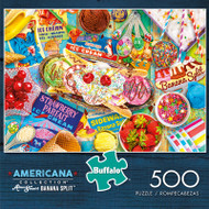 Americana Collection Banana Split 500 Piece Jigsaw Puzzle Box