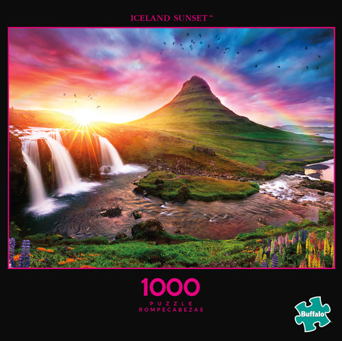 Photography Iceland Sunset 1000 Piece Jigsaw Puzzle Box