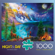 Night & Day Lake Moraine Journey 1000 Piece Jigsaw Puzzle Box