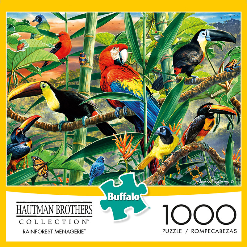 Buffalo Games Songbird Menagerie 300 Large Piece Jigsaw Puzzle Hautman Brothers