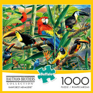 Hautman Brothers Rainforest Menagerie 1000 Piece Jigsaw Puzzle Box