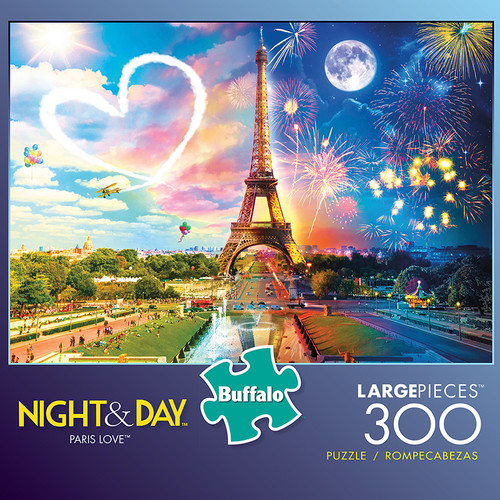 Night & Day Paris Love 300 Large Piece Jigsaw Puzzle Box