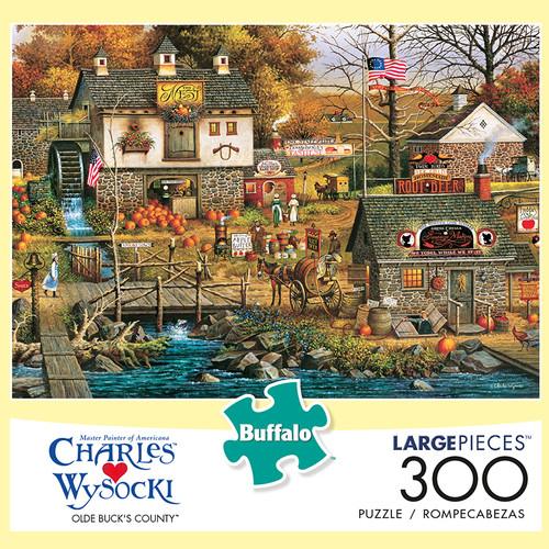 Charles Wysocki Old Bucks County 300 Large Piece Jigsaw Puzzle Box