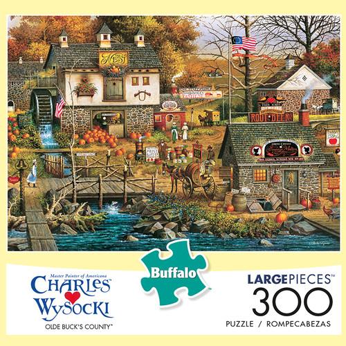 Charles Wysocki Old Bucks County 300 Large Piece Jigsaw Puzzle Box