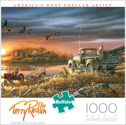 Terry Redlin Patiently Waiting 1000 Piece Jigsaw Puzzle Box