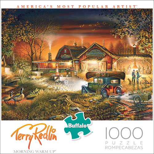 Terry Redlin Morning Warm Up 1000 Piece Jigsaw Puzzle Box