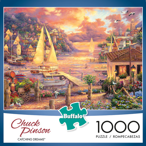 Chuck Pinson Escapes Catching Dreams 1000 Piece Jigsaw Puzzle Box