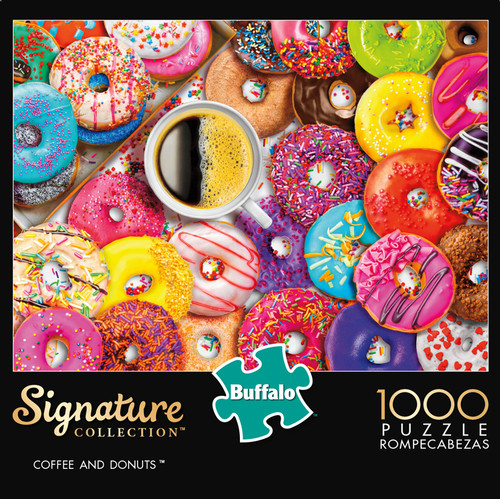 Signature Collection Coffee & Donuts 1000 Piece Jigsaw Puzzle Box