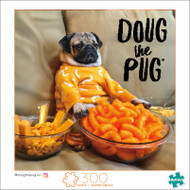 Doug The Pug Cheesy Doug 300 Large Piece Jigsaw Puzzle Box