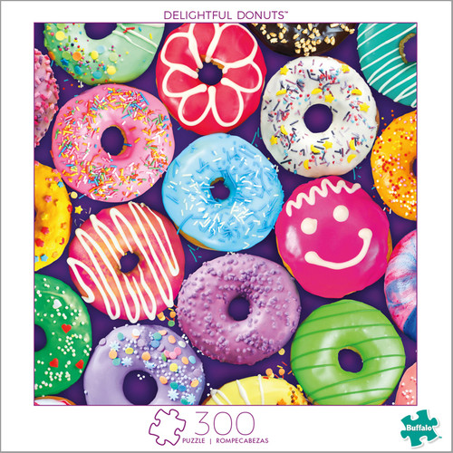 Delightful Donuts 300 Large Piece Jigsaw Puzzle Box