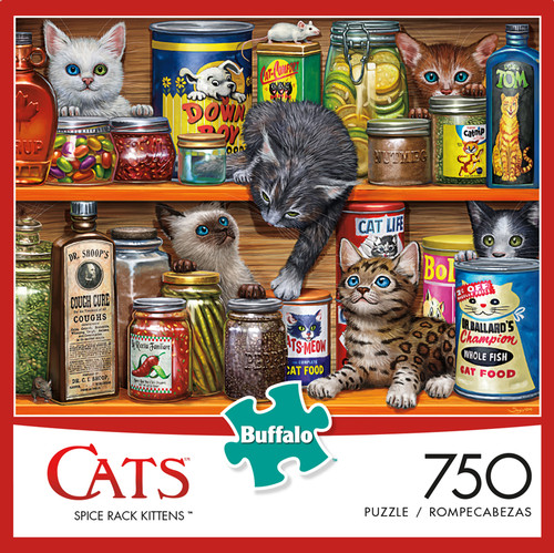 Cats Spice Rack Kittens 750 Piece Jigsaw Puzzle Box