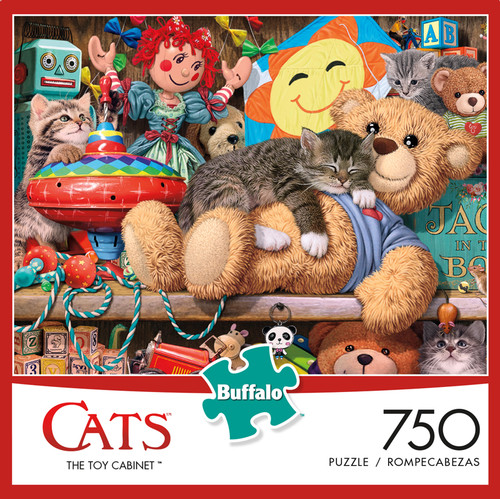 Cats The Toy Cabinet 750 Piece Jigsaw Puzzle Box