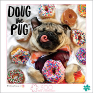 Doug The Pug Donut Doug 300 Large Piece Jigsaw Puzzle Box