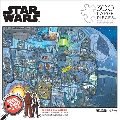 Star Wars™ Seek and Find: The Death Star™ 300 Large Piece Jigsaw ...