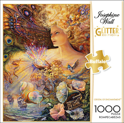 Josephine Wall Crystal of Enchantment Glitter Edition 1000 Piece Jigsaw Puzzle Box
