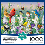 Hautman Brothers Birds & Butterflies 1000 Piece Jigsaw Puzzle Box