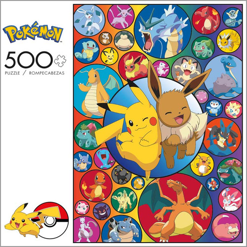 Pokémon Series 3 Pikachu and Eevee 500 Piece Jigsaw Puzzle Box