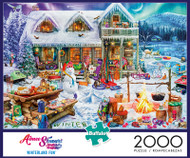 Aimee Stewart Winterland Fun 2000 Piece Jigsaw Puzzle Box