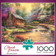 Chuck Pinson Escapes Brookside Retreat 1000 Piece Jigsaw Puzzle Box