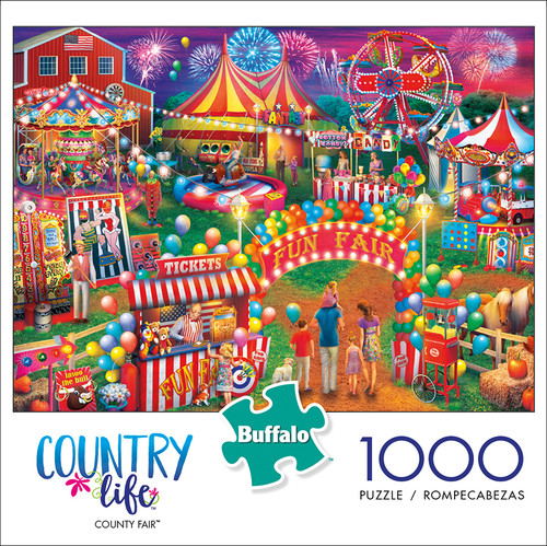 Country Life County Fair 1000 Piece Jigsaw Puzzle Box