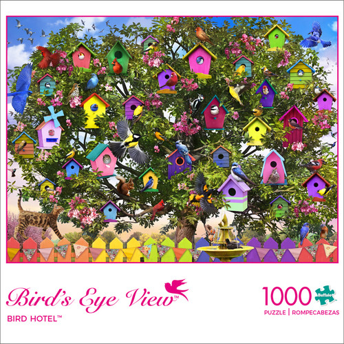Bird's Eye View Bird Hotel 1000 Piece Jigsaw Puzzle Box