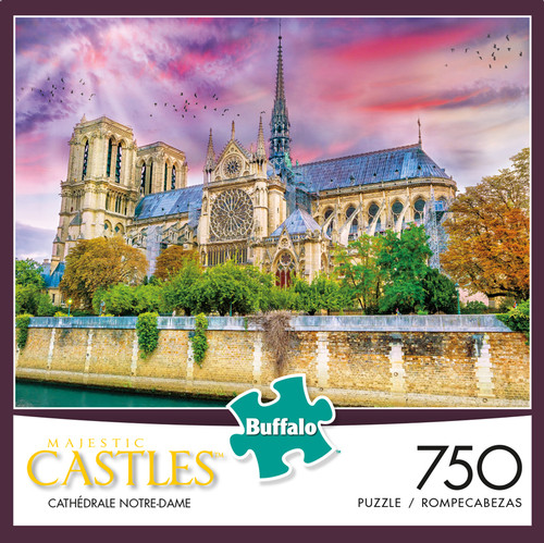 Majestic Castles: Cathedrale Notre-Dame 750 Piece Jigsaw Puzzle Box