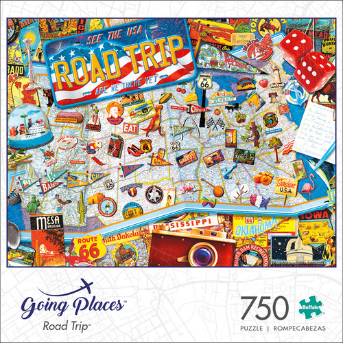 Going Places Road Trip 750 Piece Jigsaw Puzzle Box