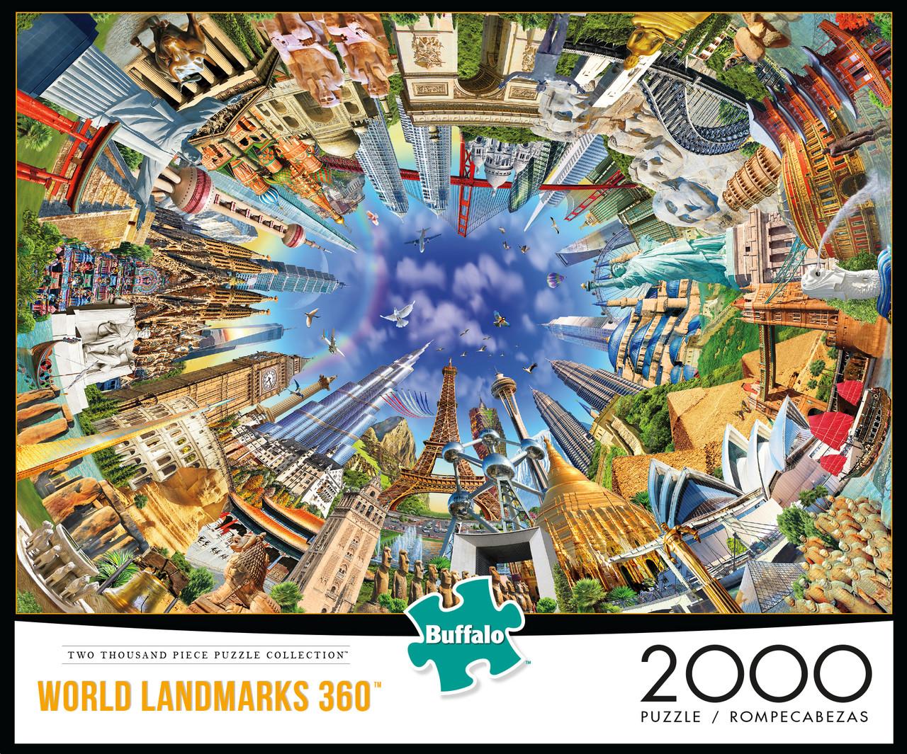 - World Landmarks 360 2000 Piece Jigsaw Puzzle - Buffalo Games