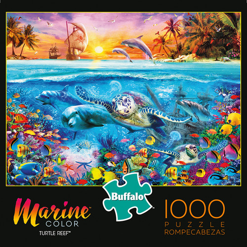 Marine Color Turtle Reef 1000 Piece Jigsaw Puzzle Box