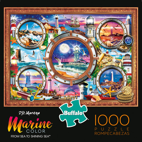 Marine Color Sea To Shining Sea 1000 Piece Jigsaw Puzzle Box