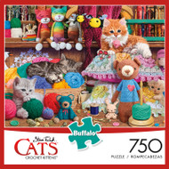 Cats Crochet Kittens 750 Piece Jigsaw Puzzle Box